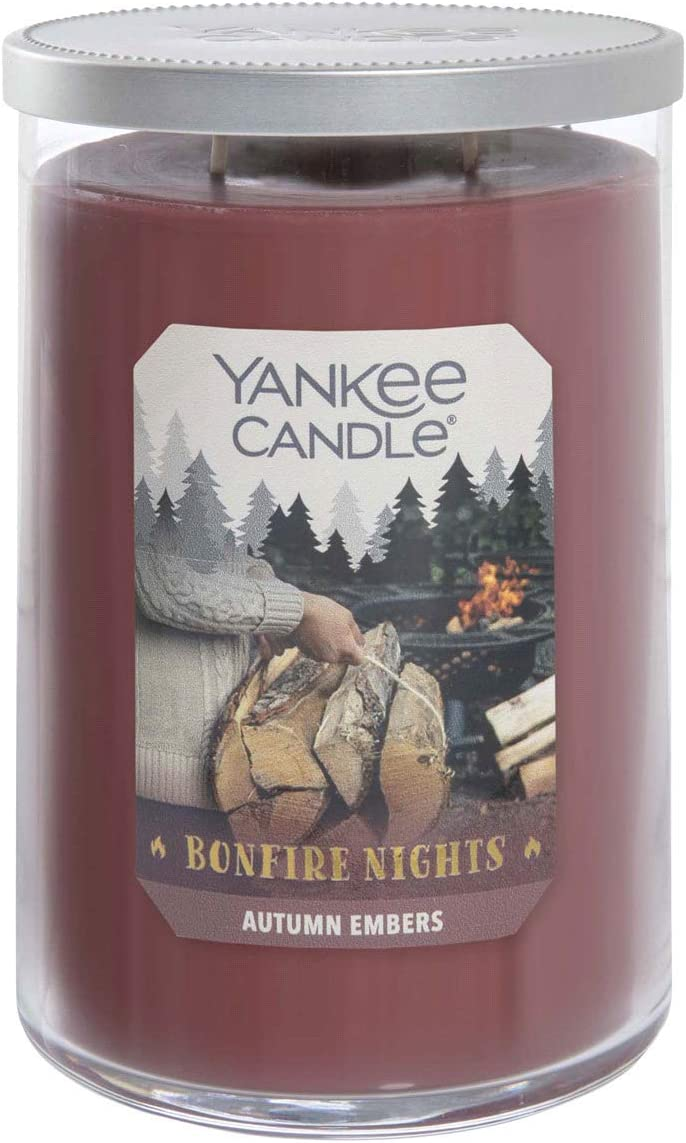 Yankee Candle Autumn Embers — Bonfire Nights Collection — 2-Wick Glass Tumbler Candle — Large - 22oz - 110 Hours Burn Time