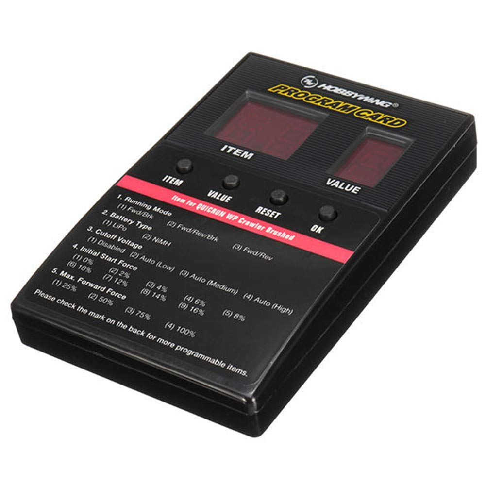 Hobbywing QuicRun ESC 1:10 1//8 1080 WP Regolatore di velocit/à elettronico spazzolato spazzolato 80A ETbotu Controller ESC spazzolato