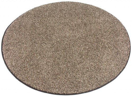 9' ROUND Chocolate Chip Area Rug Carpet. MULTIPLE SIZES, SHAPES and COLORS TO CHOOSE FROM. Home area rugs, runner, rectangle, square, oval and round. Hem-stitching on all four sides. 22 oz. Face Weight. 1/2″ Thick. Polyester. Loose and Soft Frieze. Review