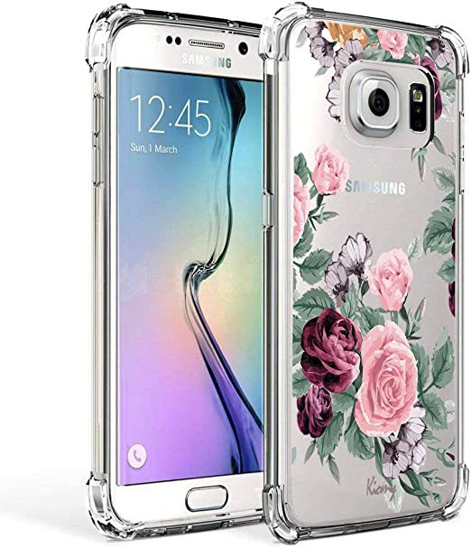 Amazon Com Galaxy S7 Case For Girls Women Clear With Flowers Design Shockproof Protective Cell Phone Cases For Samsung Galaxy S7 5 1 Inch Cute Floral Pattern Print Flexible Slim Fit Bumper Rubber Silicone
