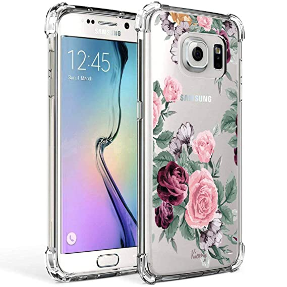 wholesale dealer fd625 5fdbe Galaxy S7 Case for Girls Women Clear with Flowers Design Shockproof  Protective Cell Phone Cases for Samsung Galaxy S7 5.1 Inch Cute Floral  Pattern ...