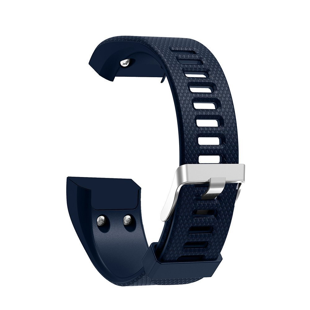 Garmin Vivosmart HR+ Bands Silicone Watch Replacement Adjustable Sport Strap Band with Free Pin Removal Tools For Garmin Vivosmart HR+ (Midnight Blue)