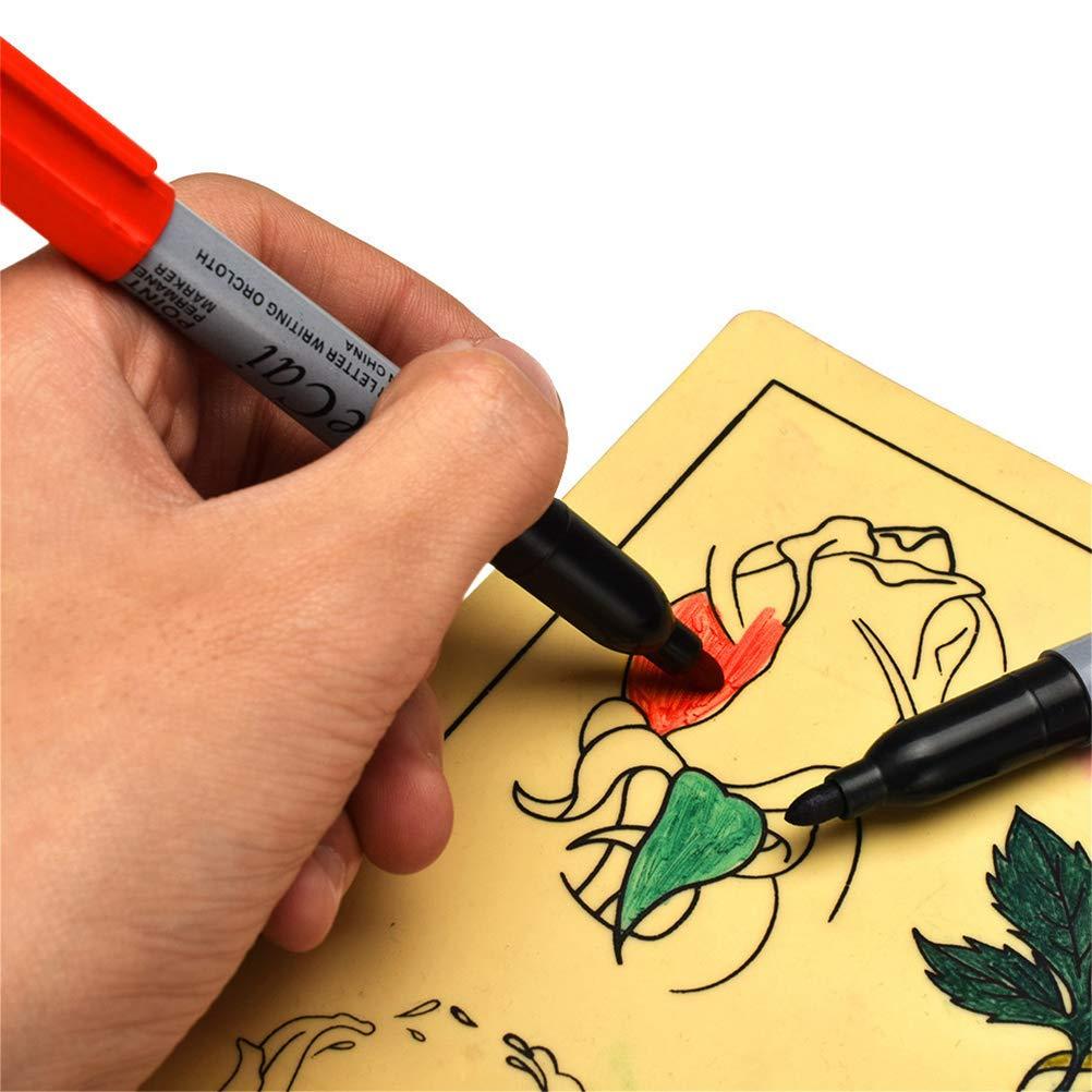 Artibetter 6pcs tatuaje rotulador tatuaje marcador de piel marcado marcador escriba pluma para tatuaje