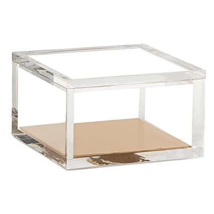 Acrylic U0026 Gold Odds U0026 Ends Box   A Classic Modern Design To Help Organize  And