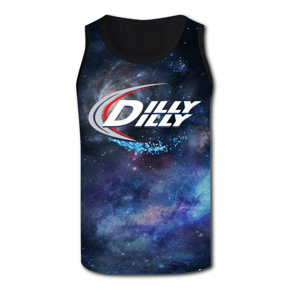 HNkiha Mens 3D Printed Tank Tops Dilly Dilly Vest Sleeveless Casual Shirt