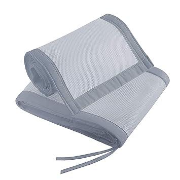 Mesh Liner for Full Size Crib,Crib Bumper Pads Breathable Crib Bumper White