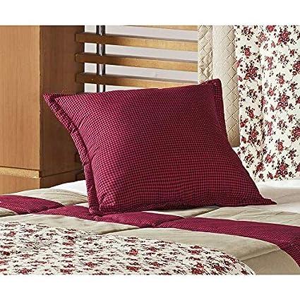 d803ec7534 Kit Edredom Júlia Solteiro 04 Peças - Floral Vermelho  Amazon.com.br