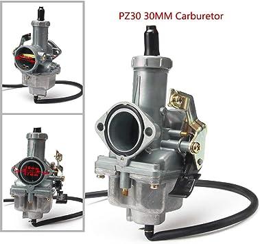 PZ30 PZ 30 mm Kabeldrossel Vergaser f/ür 200 cc 250 cc Motorrad Dirt Pit Bike ATV Quad Taotao