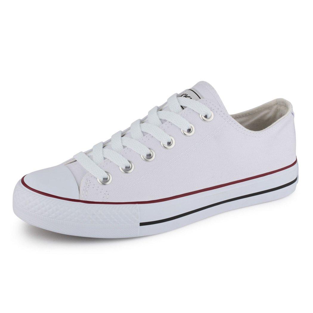 best-boots Damen Turnschuh Sneaker Slipper Halbschuhe sportlich Weiß