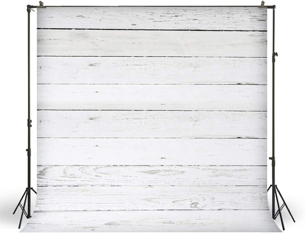 FiVan Backdrops for Dessert Table Decoration Baby Kids Birthday Photo Booth Party Event Pictures White Grey Wood Background for Studio Products Photography FD-7584