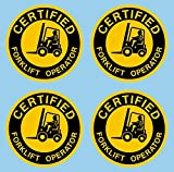Certified Forklift Operator, 2 inch circle 4 pack, I Make Decals, Hard Hat, Hardhat, Decal, Sticker, Placard