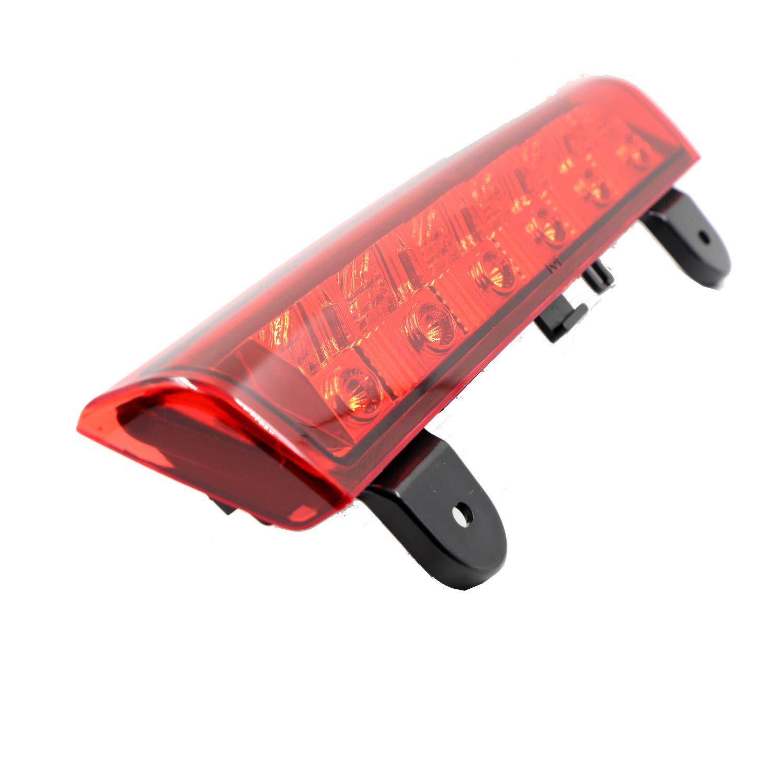 Electroplate Housing Red Len Rear Roof Center Mount Brake Tail Lamp for 2000-2006 Chevy Suburban Tahoe High Mount LED Third 3rd Brake Light