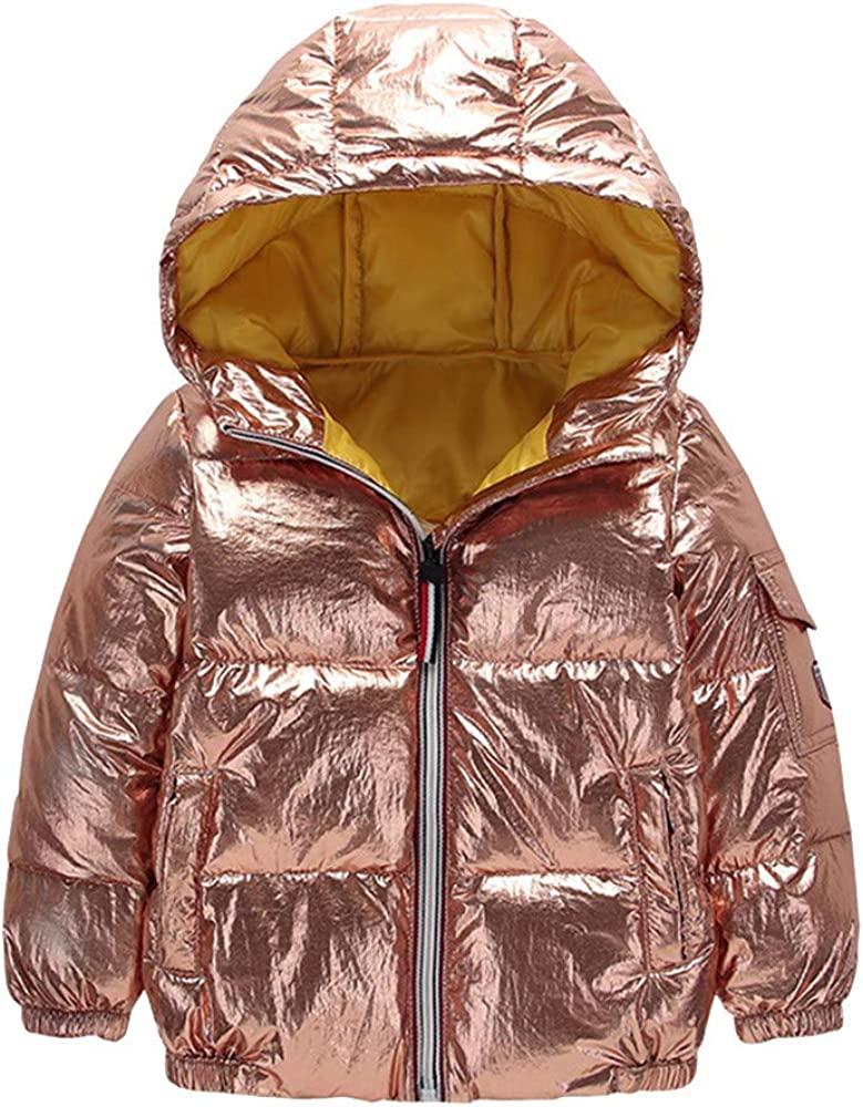 Anxinke Kids Boys Girls Keep Warm Zipper Hooded Puffer Down Vest