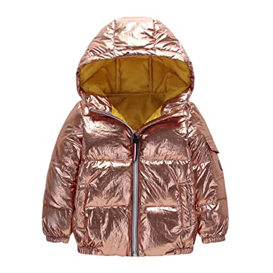 16c1c4763 Amazon.com  WARMSHOP Boys Girls Hooded Down Coat