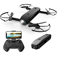 Holy Stone FPV Drone with Camera 1080P HD Foldable Drones for Adults with Optical Flow Positioning, RC Quadcopter with Handheld Camera Mode, Portable Charger Function, Modular Battery,8G TF Card,HS161