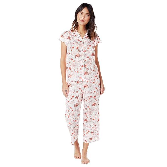 Amazon.com: El del gato pijamas Rosa Flamingo Pima Capri ...