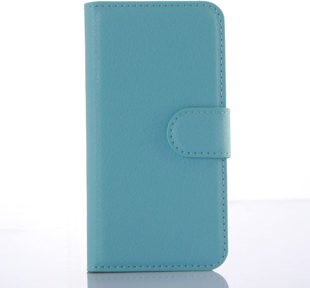 Leather Case for iPod Touch 7th 6th 5th Generation (2020-2012 Models of iPod) - Protective Cover Case with Pockets for The iPod Touch (Blue Color)
