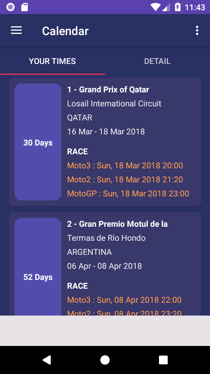 amazoncom 2018 motogp calendar result appstore for android