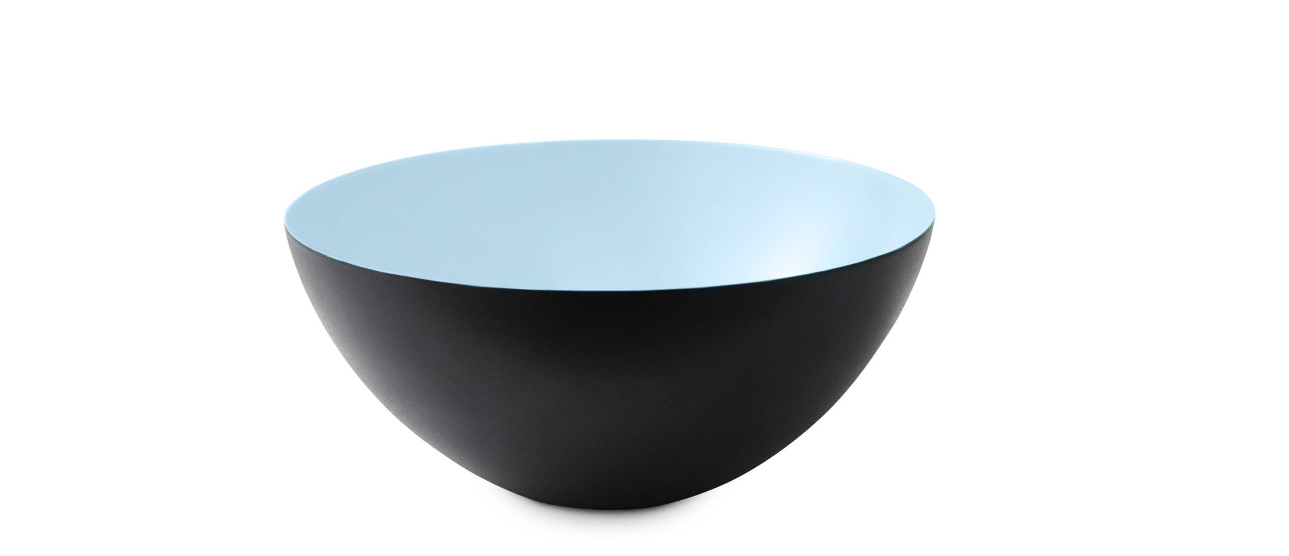 Krenit Round Edge Steel Bowl, 16cm Diameter, Light Blue