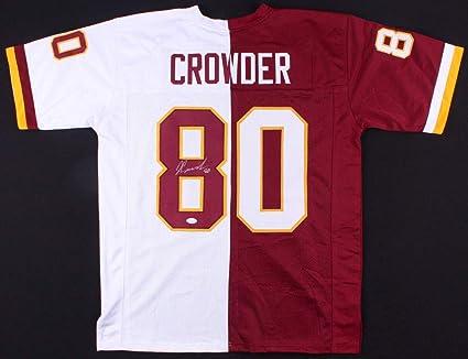 best service 334a1 e2754 Jamison Crowder Autographed Signed Washington Redskins Split ...