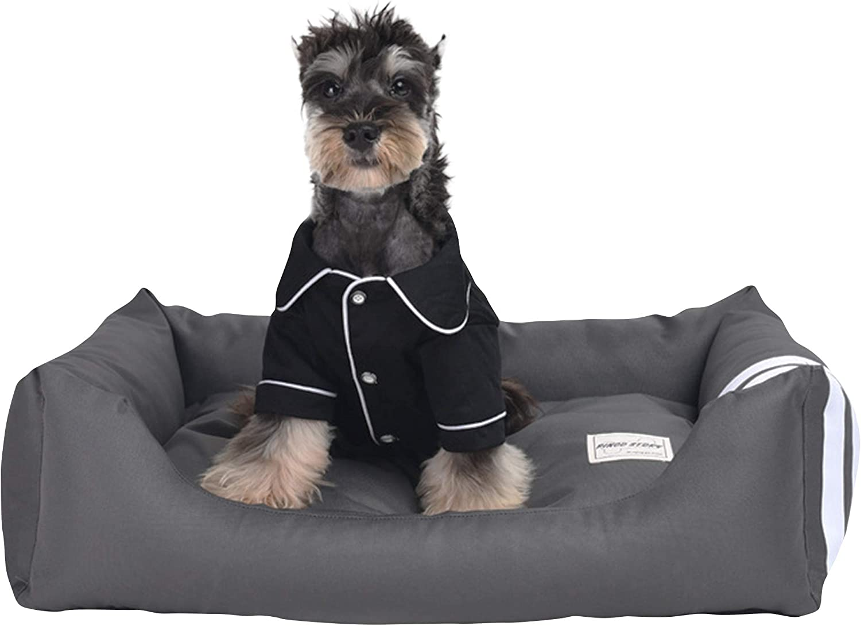 Cesta para Mascotas de Felpa 2 Colores Diferentes y 5 tama/ños Lavable y Resistente a los ara/ñazos casa para los Perros y Gatos M, Style 2