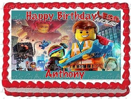 Amazon The Lego Characters Photo Image Cake Topper