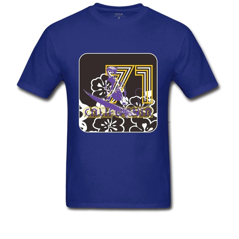 71 CANFORNIA Men's Regular T Shirt S Royal Blue