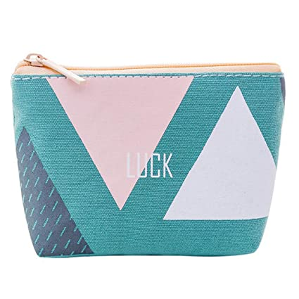 Fanspack Monedero para niñas Patrón de geometría de Moda ...