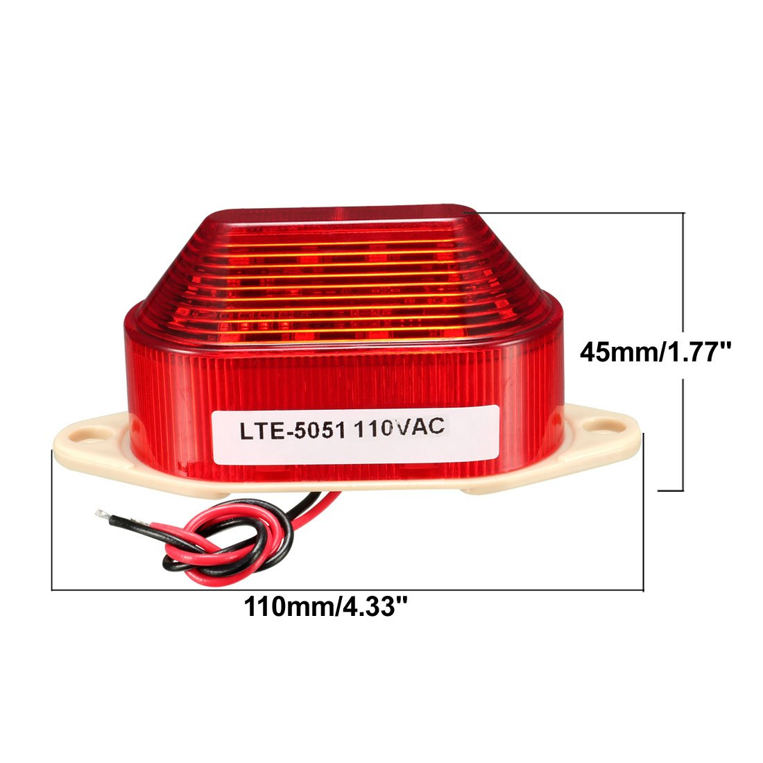 Industrial AC 110V Red LED Warning Light Bulb Signal Tower Lamp N-3051 Steady Flash