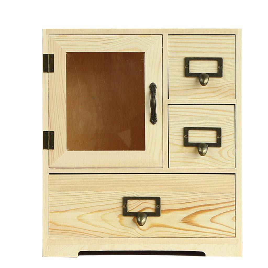 Shelf Standing Units Storage Box Creative Desktop Cosmetic Storage Box Solid Wood Storage Cabinet Wooden Desk Drawer Storage Box Rack