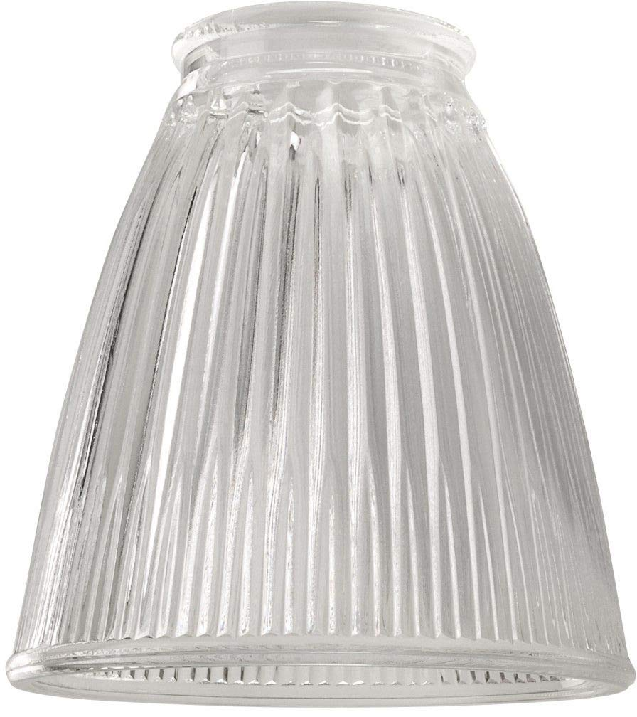 Craftmade 757C 2 1//4 Cone Shaped Fan Glass Clear Ribbed