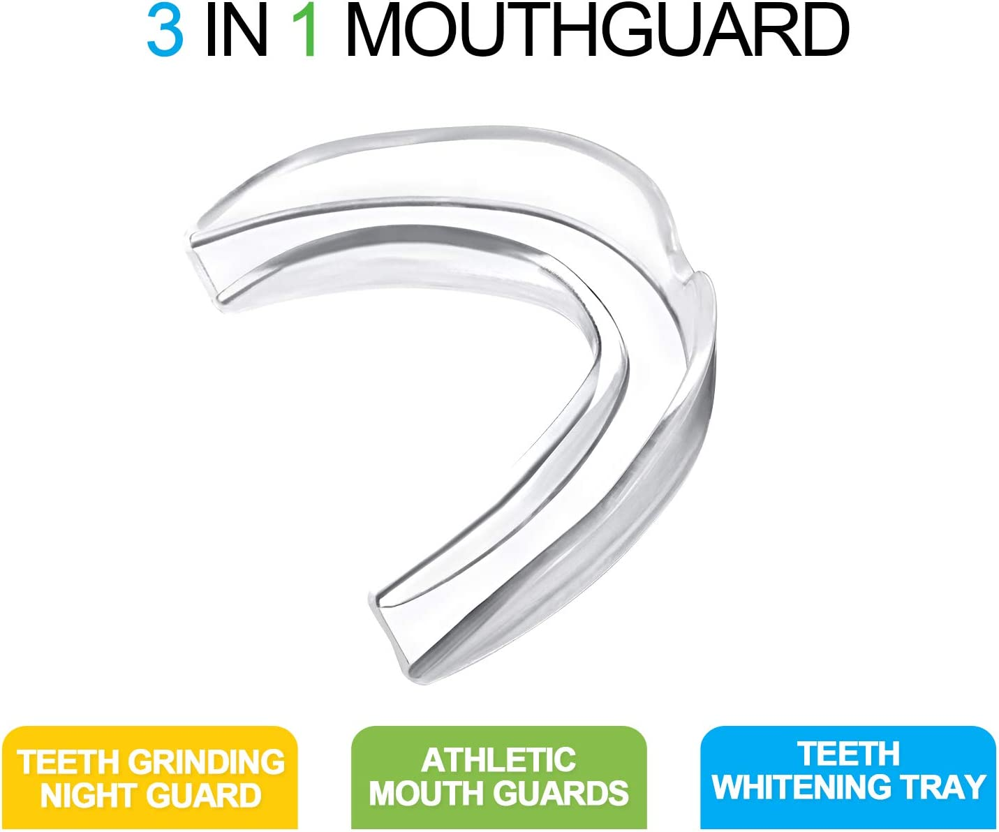 Zhanmai Sport Mouth Guards Teeth Armor Athletic Mouthguards for Football Boxing Basketball Hockey Taekwondo Kickboxing Fit Any Mouth Size Custom Fit