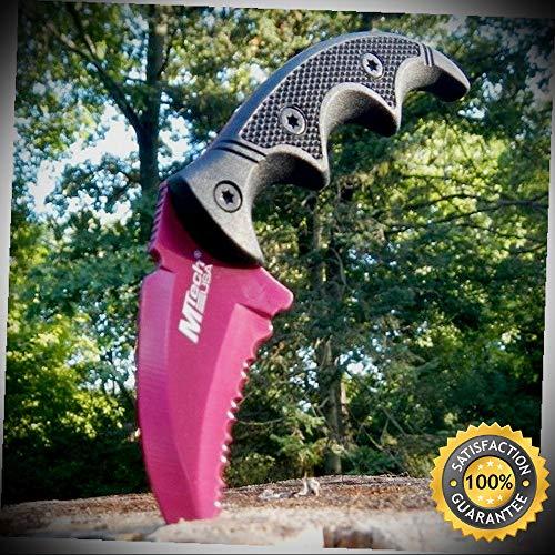 5'' Military Karambit Skinner Hawkbill Neck Serrated Sharp Knife Claw Dagger - Outdoor For Camping - Bear Claw Neck Knife