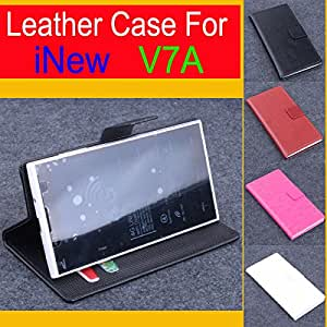 High Quality New Original iNew V7A Leather Case With Wallet Flip Cover for iNew V7A Case Phone Cover In Stock Free Shipping --- Color:Brown