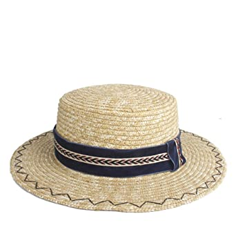 Gorra de Dama de Paja Caballero Gorra de Sol Gorra de Ala Corta de ...