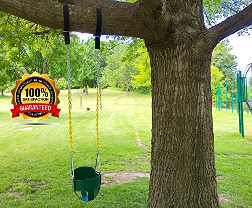Tree swing hanging kit holds 1200lbs easy fast swing Wood tree swing and hanging kit