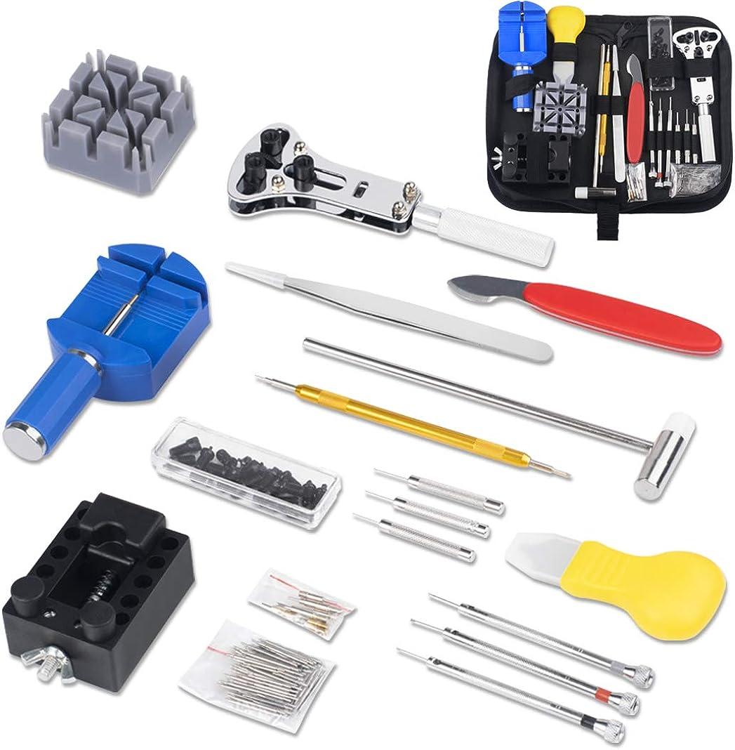 Dioxide - Kit de reparación de relojes, kit de herramientas de reloj para bricolaje, relojes, herramientas para reparación de relojes (148 piezas): Amazon.es: Relojes