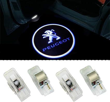 ZTMYZFSL 4 Unids Coche Logo Proyección Proyector LED Puerta ...
