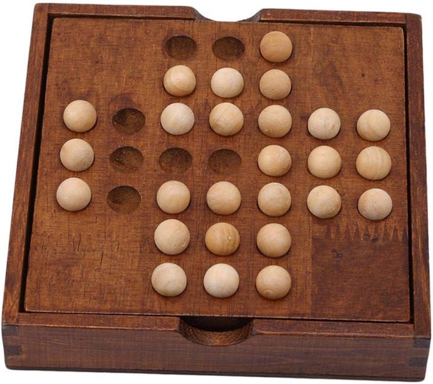YIIVAN Juguetes educativos clásicos para Adultos Juego de Mesa Solitario de Clavija de ajedrez único Movimiento de Diamante Juguete de Habilidad cognitiva Independiente: Amazon.es: Hogar