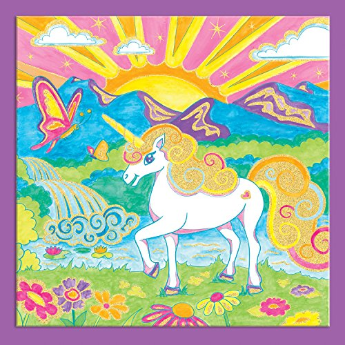 Faber-Castell Paint by Number Foil Fun - Unicorns - Color and Display 1 Unicorn Paint by Number Board