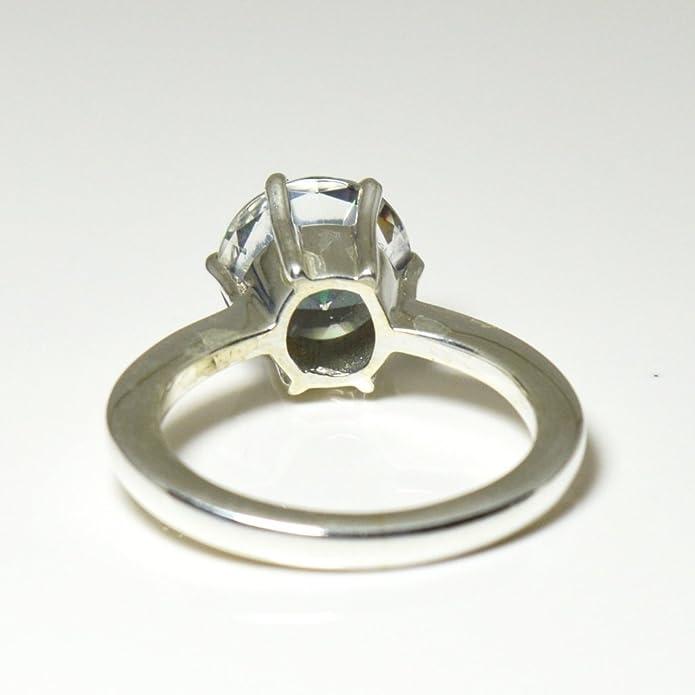 CaratYogi Round Cut Stylish Mystic Quartz Ring Sterling Silver Size J-Y For Both Men and Women sojKyS3j