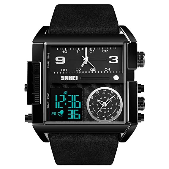 Reloj de Hombre,Tendencia Impermeable Moda Multifunción Luminoso Reloj Despertador Cronómetro Estudiante Deportes Reloj electrónico