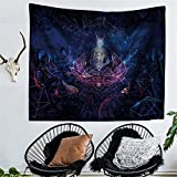 RFVBNM Tapestry,bedspread,Wall murals,Wall Decor Fabric Modern Wall Art,bed Cover,Room divider,curtain,tablecloth,Picnic blanket,Bohemian Abstract Buddha Wolf printing Tapestry,200150cm