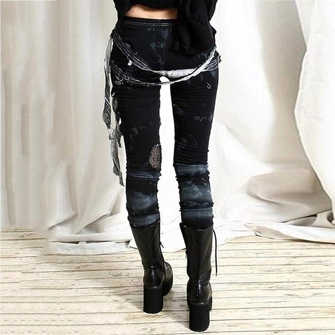 STRIR Pantalón Mujer Pantalones de gótico Pantalones Casuales ...
