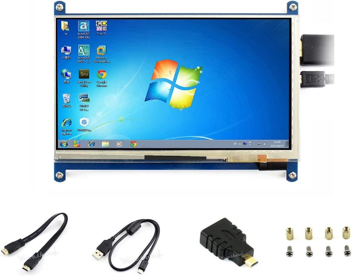 7inch Capacitive Touch Screen LCD for Raspberry Pi 1024×600 IPS Display