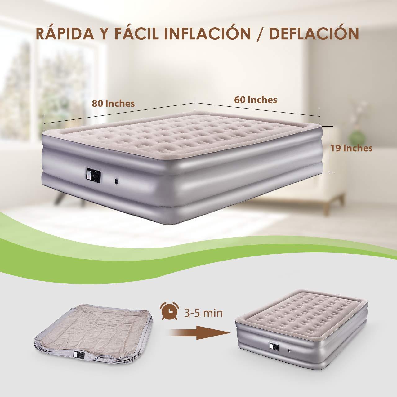 Badematratze cabecero colchón colchón inflable colchón de agua para piscina verde 58890