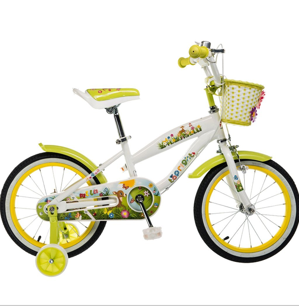 DGF 自転車子供の自転車2-10歳12141618インチ自転車の赤ちゃんキャリッジ (色 : イエロー いえろ゜, サイズ さいず : 16 inches) B07F2YJP8Q 16 inches|イエロー いえろ゜ イエロー いえろ゜ 16 inches