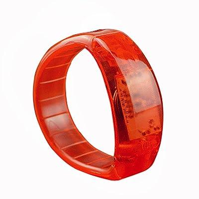 Amasells Activation vocale Sound Control LED clignotante Bracelet Bracelet Nuit