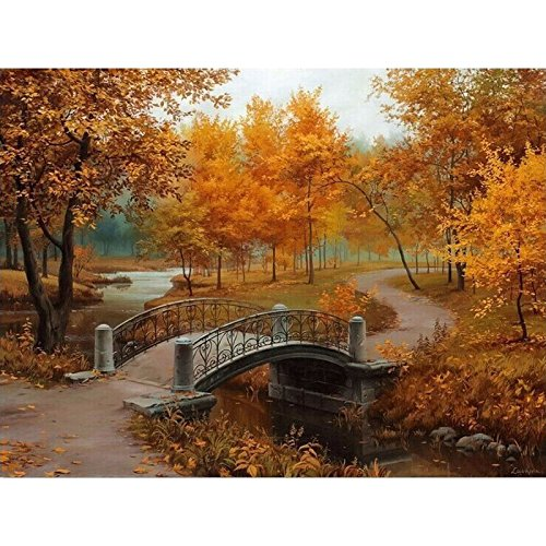 JynXos Framed Autumn Landscape DIY Painting By Numbers Kits Drawing Painting By Numbers Acrylic Paint On Canvas For Room Artwork -