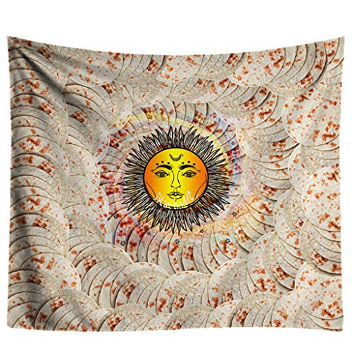 KAKALOR Tapestry Kits Burrito Blanket Throw Tortilla Texture Face Beach Throw Towel Mat Home Decor